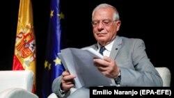 Жозеп Боррель, новий віцепрезидент і верховний представник із закордонних справ і політики безпеки, під час презентації блогу «Це справжня Іспанія» в Мадриді, Іспанія, 14 травня 2019 року