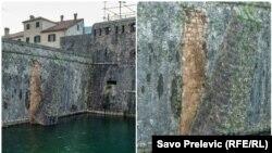 Novca ima, ali da nema volje da se ulaže u zaštitu i sanaciju kotorskih bedema: Patricia Pobrić, aktivistkinja (na slici: postepeno urušavanje starih zidina Kotora)