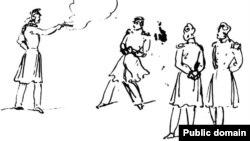 М.Ю. Лермонтов. Дуэль (рисунок пером)