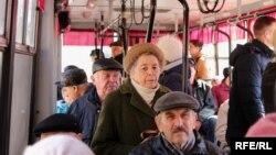У тролейбусі на вулицях Краматорська