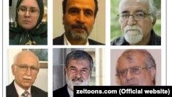 محمد برقعی، حسن فرشتیان، صدیقه وسمقی، حسن یوسفی اشکوری، محسن کدیور عبدالعلی بازرگان