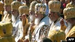 Молебен в Минске в ознаменование 1025-летия Крещения Руси.