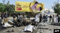 На месте взрыва в Кветте, 23 июня 2017