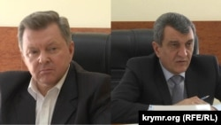 Олег Белавенцев (л) і Сергій Меняйло (п)
