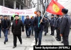 Митинг в защиту свободы слова, Бишкек. 18 марта 2017 г.