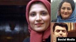 هنگامه شهیدی (چپ)، آتنا دائمی و اسماعیل عبدی منبع: @madyar
