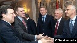 Crnogorski i zvaničnici EU u Podgorici, april 2011.