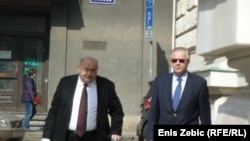 Ivo Sanader u pratnji svog odvjetnika Čede Prodanovića dolazi na Županijski sud, Zagreb, 21. ožujak 2012.