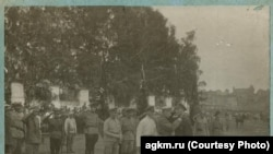 Вручение наград партизанам. Барнаул, 1920 год
