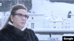 Turkish Trade Minister Ruhsar Pekan speaking to BloombergHT in Davos. January 23, 2020.