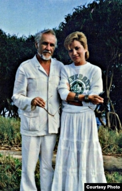 Mihai Botez cu soția sa Magda