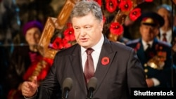 Președintele Uceainean Petro Poroșenko la ceremoniile de la Kiev