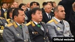Слева направо -Саидмумин Ятимов, Рамазон Рахимзода и Юсуф Рахмон