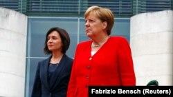 Angela Merkel și Maia Sandu la Berlin, 16 iulie 2019