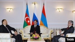 The presidents of Armenia, Azerbaijan, and Russia meet in Sochi on January 25.