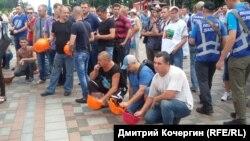 Під час акції біля будівлі Верховної Ради України. Київ, 19 червня 2018 року