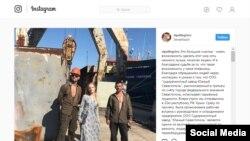 Лиза Пескова в Крыму на заводе