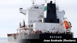 The Iranian vessel Bavand is seen near the port of Paranagua, July 18, 2019