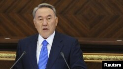 Kazakh President Nursultan Nazarbaev addressed the UN General Assembly on September 21.