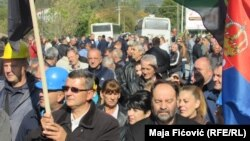 Protesta e serbëve në veri të Kosovës kundër Ligjit për Trepçën
