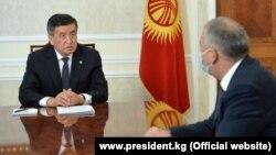Президент Сооронбай Жээнбеков и премьер-министр Кубатбек Боронов. Иллюстративное фото.