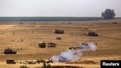 Израиль қарулы күштері Газа секторын атқылап жатыр. 23 шілде 2014 жыл.