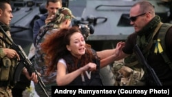 Kaliningrad-based actress Maria Avramenko plays a Russian TV reporter trapped in the city of Slovyansk in eastern Ukraine.