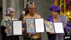 2011 жылғы Нобель сыйлығының лауреаттарын марапаттау сәті. Осло, 10 желтоқсан, 2011 жыл.
