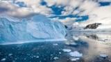 نمایی از یخهای قطب جنوب