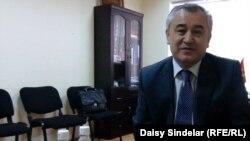 "Ata-Meken chief Omurbek Tekebaev at his Bishkek headquarters: ""Nobody is taking us seriously yet."""
