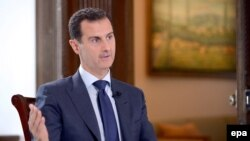 Syrian President Bashar al-Assad giving an interview to NBC News in Damascus, Syria, 14 July 2016