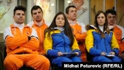 Босния мен Герцеговина құрамасы (бірінші қатарда солдан оңға) Игорь Лайкерт, Жана Новакович және Таня Каришик.