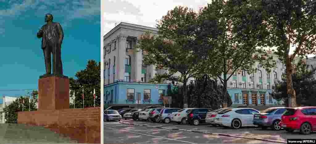 Площа з Леніним в центрі така ж, як і 1987-му.У колишньому приміщенні обласного виконкому з моменту утворення в 1991 році Кримської автономії функціонувала Рада міністрів АРК. Після анексії Криму тут збирається російський уряд півострова