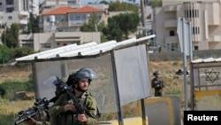 Izraelski vojnici na straži pored Hebrona, Zapadna obala, 13. maj, 2020.
