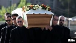 The funeral for Iranian film director Abbas Kiarostami