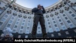 Народний депутат України, ветеран АТО Андрій Білецький. Виступ 7 листопада 2018 року на пікеті біля Кабміну
