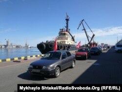 Автопробіг, заблокований через радянську символіку. Одеса, 9 травня, 2020