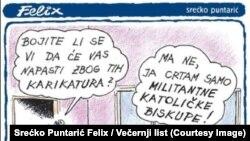Karikatura Srećka Puntarića Felixa u Večernjem listu