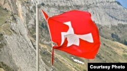 Флаг Швейцарии. Иллюстративное фото.