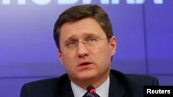 Russian Energy Minister Aleksandr Novak (file photo)