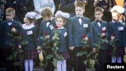 Першокласники у Макіївці. 1 жовтня 2014 року