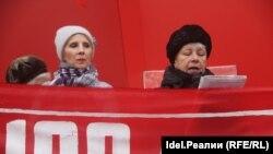 Татьяна Гурьева (слева), глава челнинского горкома КР.