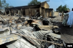 """Деревня на севере Нигерии после налета боевиков """"Боко Харам"""""""
