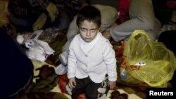 Ресей мен Норвегия шекарасындағы сириялық босқындар. 2015 жылдың күзі.