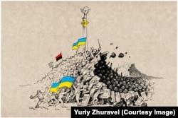 Майдан. Революція Гідності. Малюнок Юрія Журавля