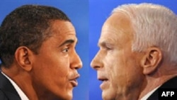نظر سنجى تازه نشان مى دهد كه باراك اوباما ۵۲ درصد و جان مك كين ۴۰ درصد نظر راى دهندگان را جلب كرده اند. (عکس: AFP)