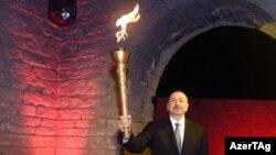 Avropa Oyunlarının məşəlini yandırma mərasimi - 26 aprel 2015