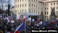 Çexiyada miqrant aksiyası, arxiv fotosu