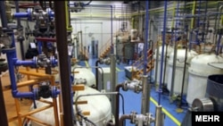 Iran's uranium-enrichment complex at Natanz in central Iran