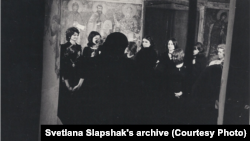 Cъемки фильма на средневековую музыку, 1972. Светлана (сопрано) крайняя слева